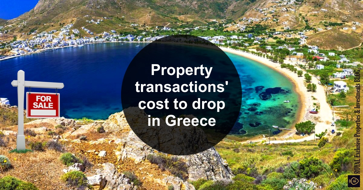 Property transactions' cost to drop in Greece